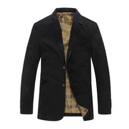 Codo de la chaqueta online-nueva llegada de alta calidad mne lavado algodón comprobado forrado de dos botones chaqueta informal codo parches chaquetas slim fit