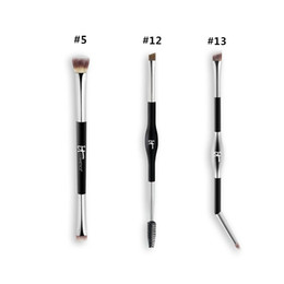 Wholesale Black Eyeshadow Makeup - Brand Professional Makeup Brushes it cosmetics Heavenly Luxe eyeshadow eyebrow brush #5 #12 #13 blending eyes contour brush.