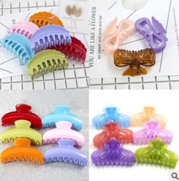 Geléia jóias on-line-Designer de jóias de cabelo clasmps para mulheres de fácil uso simples grandes grampos resina geléia cor moda quente livre de transporte