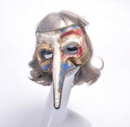 pájaros plásticos Rebajas Disfraces de Halloween Hombres Mujeres Niños Peste Pájaro Pájaros Máscaras de Plástico Steampunk Doctor Venetians Máscaras Partido Cosplay Accesorios del traje