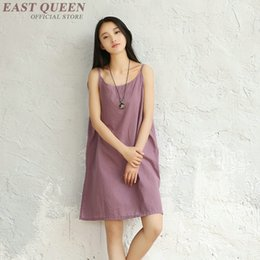 Wholesale Linen Summer Sundresses - Chinese style casual sundress linen dresses summer linen dress ladies AA3278 Y