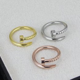 Wholesale Ring Nails - Fashion nail ring stainless steel 18K gold ring friends mutual gifts lovers...