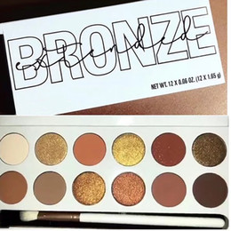glitter netting Coupons - Eye shadow BRONZE Pressed Powder Palette Eyeshadow Palette 12 Color Palette Net Wt Free DHL 105