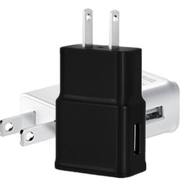 Wholesale Home Charger Adapter - USB Wall Charger 5V 2A AC Travel Home Charger Adapter US EU Plug for universal smartphone android phone White Black Color