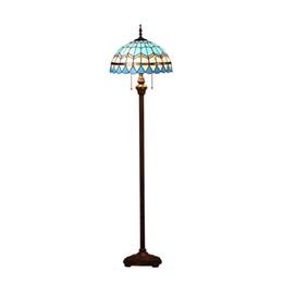 Wholesale Mediterranean Flooring - OOVOV Mediterranean Living Room Floor Lamp Vintage Study Room Floor Light Bedroom Tiffany Glass Floor Lamps