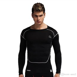 Wholesale Pro Running - New PRO men's sports tights long-sleeved stretch quick-drying body health breathable perspiration coach training clothes