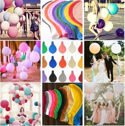Wholesale Giant Baby - New 36 inch Large Baby Shower Decor Balloon Birthday Wedding Party Decoration Kids Natural Latex Giant Balloons I144