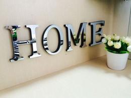 1 PC Mariage Lettres D'amour Anglais 3D Miroir Stickers Muraux Alphabet Décor À La Maison Logo Fr Mur Décor À La Maison Acrylique Lettre ? partir de fabricateur