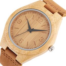 Bambou En Bois Montre Hommes Quarzt Véritable Bracelet En Cuir Homme Montre-Bracelet Nature Bambou Horloge Top Bracelet Homme Bijoux Cadeaux ? partir de fabricateur