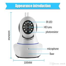 c monter cctv Promotion Vente en gros et au détail Nouvelle caméra à double antenne caméra IP sans fil WIFI Megapixel 720p HD intérieure sans fil sécurité numérique CCTV IP Cam IR