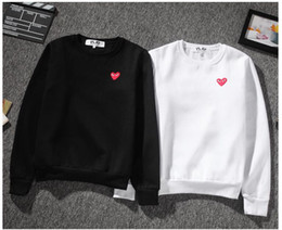 Wholesale Women S Sweater Hearts - New Arrival Fashion red heart Hoodies Men Women Cashmere Sweater Sportswear Coats Hip Hop Pablo Season Skateboard Sweatshirts Tops