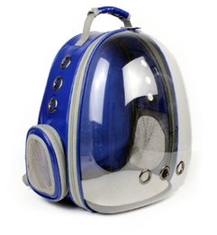 Wholesale Capsule Shape - Free Shipping Space Transparent Capsule Shaped Pet Carrier Breathable Multifunction backpack for cat outside Travel portable Dog Carry bag