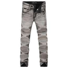 Wholesale Popular Jeans - Designer Jeans Nostalgia Hole Jeans Retro Washed Straight Trousers Trend Vintage Men Jeans Fashion Low Waist Youth Popular