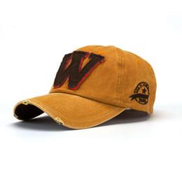 Повседневная корейская шапка онлайн-Korean Baseball Cap Women's Men's Snapback Hats Unisex Summer Adjustable Letter W Hockey Casual Caps outdoor Hip Hop Hats