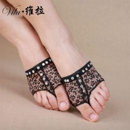 2018 Patas de dança do ventre, diamante Meia Lírica Sapatos, footcover, dedo do pé Undies S / m / l / xl 5patterns de Fornecedores de sapatos de patas