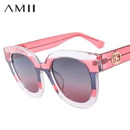 AMII Nova Moda Polarizada Mulheres Cat Eye Sunglasses 2018 Designer De Marca  Do Vintage Oversized Preto Rosa Branco Óculos De Sol Oculos desconto moda  de ... c13e667adf