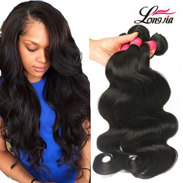 Wholesale 16 Body Wave - Grade 8A Brazilian Body Wave 3 or 4 Bundles Deals Unprocessed Brazilian Virgin Human Hair Extension Peruvian Virgin Remy Hair Body Wave
