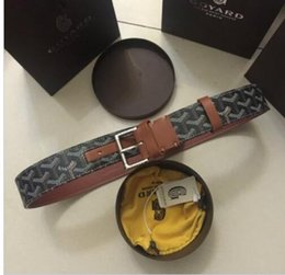 Wholesale vinyl silver - Top Quality Togo Epsom REVERSIBLE Big buckle Reversible Textured Leather Man's Leather Belt Tan