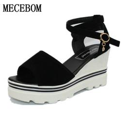 2019 sandalen schütteln 2017 Sommer koreanische Muffins Fischkopf Frauen Sandalen mit Plattform wilde wilde einfache Schuhe Schuhe schütteln mit Studenten in Schuhen 1872W rabatt sandalen schütteln