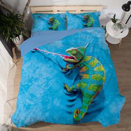 3D Bettwäsche Set Lizard Tik Tok Katze Hund Delphin Tier Muster gedruckt Bettbezug Kissenbezug Twin Full Queen King Size 3pcs Bettwäsche von Fabrikanten
