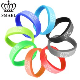 Wholesale Fitness Armbands - 2017 Neue Smart Armband Fur Touch Fitness Tracker Reminder Fitness Digitale Smart Uhr SMAEL LED Wristwatch Clock SL-W5