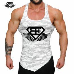 Без рукавов онлайн-Fitness Men Tank Top Army Camo Camouflage Mens Bodybuilding Stringers Tank Tops Singlet  Clothing Sleeveless Shirt