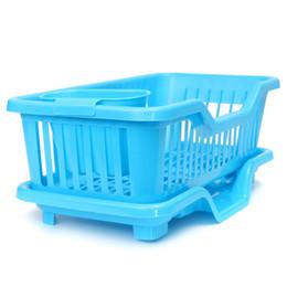 Wholesale Bamboo Flooring Kitchen - Washing Holder Basket PP Great Kitchen Sink Dish Drainer Drying Rack Organizer Blue Pink White Tray EGN005A