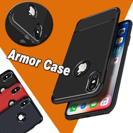 Wholesale Ultimate Protection - Armor Hybrid Carbon Fiber Case Shockproof The Ultimate Experience Protection Soft TPU Cover For iPhone X 8 7 Plus 6 6S Samsung S8 Note 8