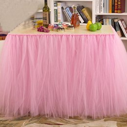 table decorations for wedding shower Australia - 1PCS Tulle Table Skirt DIY Tutu Tableware Skirts for Wedding Birthday Decoration Baby Shower Favors Party Home Textile 91.5*80cm