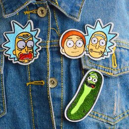 Canada Rick et Morty Cloth autocollant Patchs Vêtements Décoration Stickers DIY Coudre Sur Patch Badge drop shipping Offre
