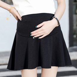 8d411ea5e2277 Maternity skirt spring and summer new tide mother wear pregnant women  stomach lift loose a word skirt pleated