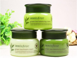 Wholesale Balance Skin - Korean Brand Innisfree Green Tea Balancing Fresh Moisture Cream 3 Types Face Care Skin Care 50ml Cream Lotion 50pcs