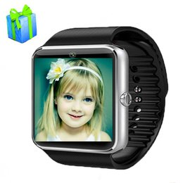 Reloj mp3 bluetooth resistente al agua online-Smart Watch GT08 SmartWatch con cámara Bluetooth Android Teléfono Tarjeta SIM MP3 Fitness Impermeable Reloj inteligente Reloj de pulsera