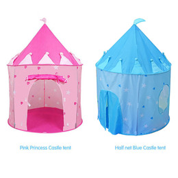 Wholesale playing girl tent - Cute Portable Girls & Boys Play Tent Children Castle Cubby Indoor Playhouse New