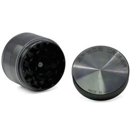 Wholesale Space Case Wholesale - Space Case Grinder Black 55MM 4 Layers Aluminum Alloy Herbal Tobacco Grinder Space Case Grinders OOA4012