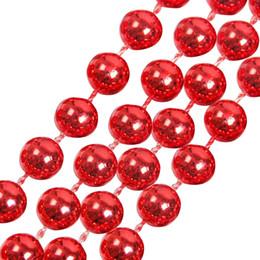 1 pc 270 * 0.8 cm Perles Pendentif Suspendu Pour Arbre De Noël Décor Coloré Perlé Chaîne De Noël Ornements Artisanat Partie Fournitures ? partir de fabricateur