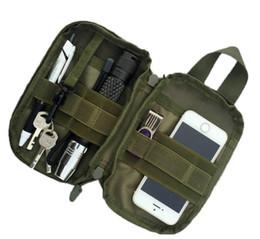 poche à outils molle Promotion 1000D Nylon Sac Tactique En Plein Air Molle Taille Militaire Fanny Pack Mobile Téléphone Cas Clé Mini Outils Poche Sport Sac