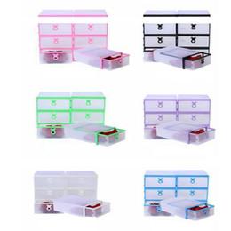 Wholesale Transparent Plastic Shoe Storage - Drawer Type Shoe Box Thickening Plastic Wrapping Storage Box Stackable Foldable Rectangle Bins Transparent Storage Case DDA24