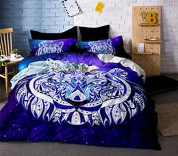 2020 conjuntos de cama ocidentais Alta Qualidade de Luxo 3d Tigre Urso Leão Lobo Cama Conjunto de Estilo Ocidental Têxteis Para o Lar Colcha de Cama Colcha Fronha Colcha conjuntos de cama ocidentais barato
