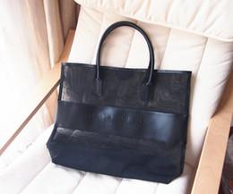 Wholesale Solid Items - Designer Brand Large Transparent Cosmetic Bag Fashion Shoulder Bag Beach Bag women handbag items FREE SHIPPING