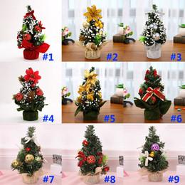 Mall weihnachtsschmuck online-Weihnachtsbaum Weihnachtsschmuck Urlaub Party Shopping Desktop Ornament Baum 20cm Mini Xmas Day Mall Dekorationen WX9-952