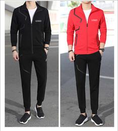 09fc0e661c8c9 Chándales de la marca New Fashion Luxury Men s Chándales casuales Hombres  Sudadera Ropa deportiva Autumn Men Zipper Jacket and Long Pants