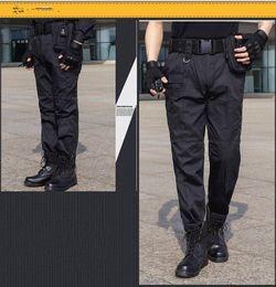 Wholesale Military Cargo Men Pant - Military Uniform Mens Black Pants Male Large Size 38 Army US Tactical Combat Pants Fomal Multi Pocket Cargo Trousers