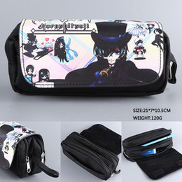 cosplay butler Australia - Colorful Design Black Butler Anime Student Pen Bag Fullmetal Alchemist Cosplay Cosmetic Bags for School
