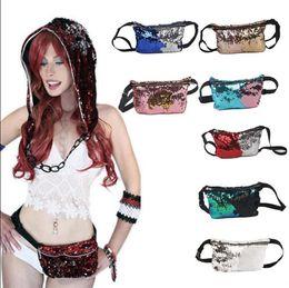 Wholesale Wholesale Glitter Belts - Women Mermaid Sequins Glitter Waist Bag Travel Pack Glitter Fanny Pack Belt Bag Hip Purse 11 Styles OOA3852