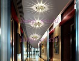 Wholesale Crystal Ceiling Led Spotlight - 3W LED Crystal Aisle Lights Porch Lighting Bar Corridor Balcony Foye Ceiling Lamp Downlight Spotlight Recessed   Surface Mounted