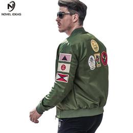2019 armee grüne motorradjacke Neuartige Ideen Bomberjacke Männer Ma-1 Armee-Grün-Fliegerjacke Piloten Mens Ma1 Motorrad Jacken Mäntel US-Größe