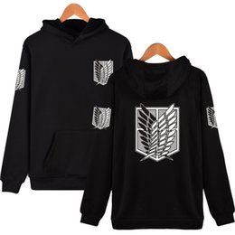 hip hop clothing sale Promo Codes - 2017 Latest Fashion Hoodies Attack On Titan Harajuku Hooded Sweatshirt Recon Corps Design Hoodie Hip Hop Brand Clothing Hot Sale