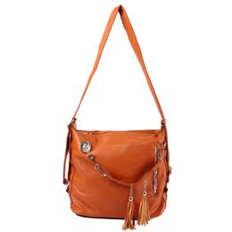 Argentina 5x Bolso mujer Satchel PU cuero borla hombro Messenger bag Marrón supplier brown leather messenger bags for women Suministro