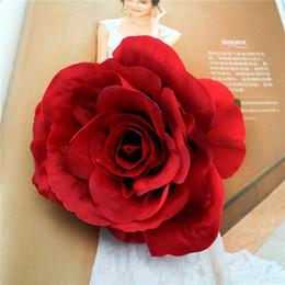 roses rouges séchées Promotion 10 cm Soie Rose Tête DIY Main Faux Rose Têtes Sans Tiges Lattice Mur Artificielle Fleur De Soie pour Décorations De Mariage